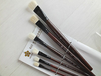 £6.99 • Buy 6 Japanese Painting Brush 1/12 10 8 6 4 2 Chinese Art Water Color Acrylic Oil