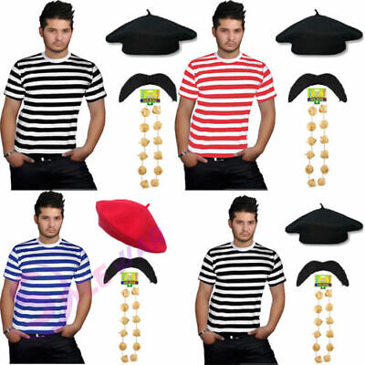 £3 • Buy Frenchman Costume Garlic Necklace Beret Hat French Man Waiter Stag Fancy Dress