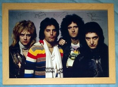 £9.99 • Buy Freddie Mercury Queen Framed Signed Autographed Printed A4 Premium Photo #04