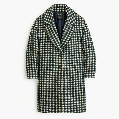 AU130.10 • Buy $350 NWT J.Crew Oversized Topcoat In Check Tweed Plaid Coat 0 2 4 6 FROM 2018