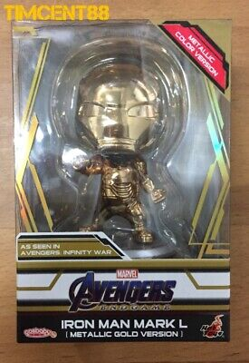 AU101.54 • Buy Ready! Hot Toys Avengers: Endgame Mark 50 L Metallic Gold Version Cosbaby New