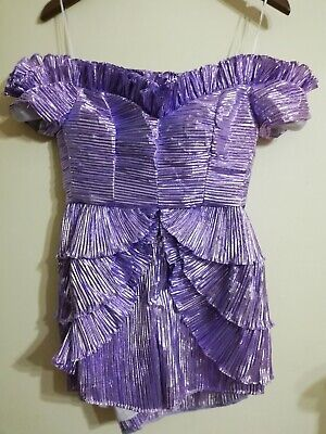 AU345.95 • Buy Alice McCall Wasn't Born To Follow Playsuit Size 8 Ultra Violet Sample