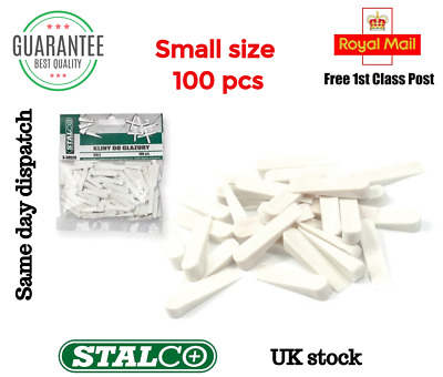 100 Pcs Small Wedges Spacers Tile Small Size Tool Tiling Flooring Set White  • 3.99£