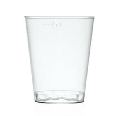 25 X 80ML Shot Glass / Desert Cup, Clear 80ml  Polystyrene Shot Glass With Lids  • 7.50£