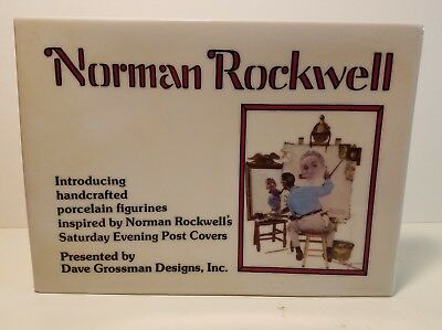 $ CDN44.17 • Buy Vintage Norman Rockwell 1975 Porcelain Dealer Display Sign Dave Grossman Designs