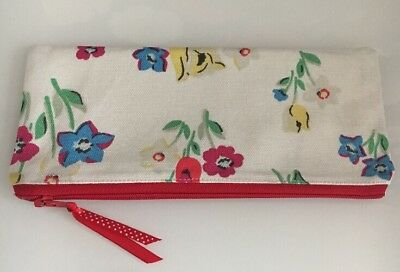 Handmade Cath Kidston Paradise Fields Fabric Pencil Case /makeup Zipper Pouch • 5.50£
