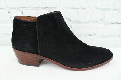 51a151d25 Sam Edelman Petty Womens Black Suede Ankle Boots Size 8M • 29.95