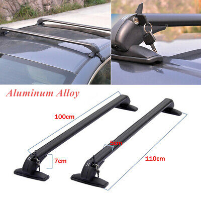 $130.90 • Buy 2× Universal Car SUV Roof Rail Luggage Rack Baggage Carrier Cross Aluminum Alloy