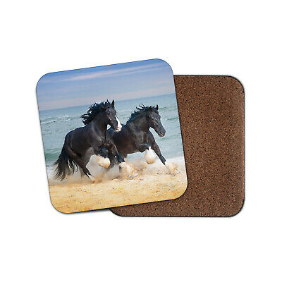 Shire Horses Coaster - Beautiful Animal Ocean View Cool Ponies Beach Gift #12681 • 3.49£