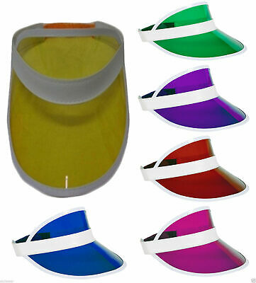New Adult Poker Sun Visor Hat Headband Golf Neon Pub Stag Hen 80's Fancy Dress • 8.99£