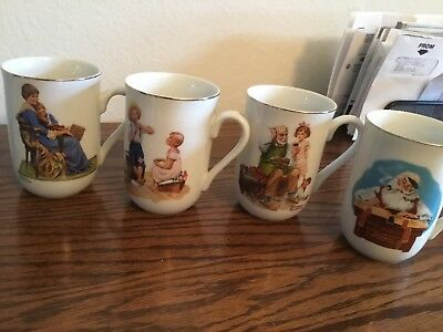 $ CDN5.05 • Buy Norman Rockwell Museum Mugs 4 Trimmed In Gold