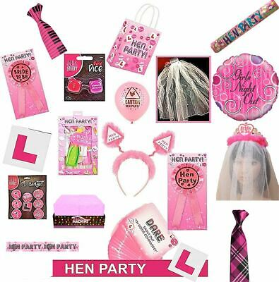 £2.49 • Buy Hen Night Do Party Accessories Sashes Balloons Head Boppers Photo Props Badges