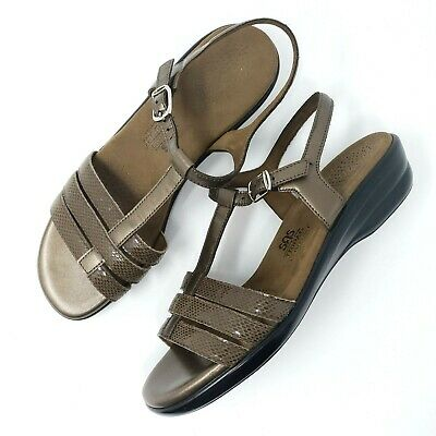 e7d077171511 SAS Tripad Comfort Womens Brown Strappy Wedge Ankle Strap Sandals Size 9  Narrow • 21.99