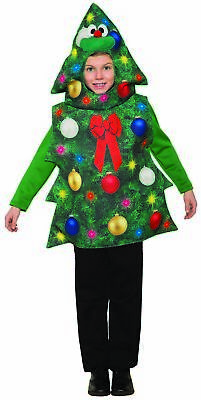 Funny Christmas Tree Costume Child Costume One Size Hooded Tunic Sublimated • 11.56£
