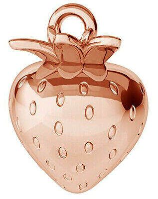 £4.99 • Buy Small Sterling Silver 925 Strawberry Charm / Pendant, 14 Mm, Rose Gold Plated