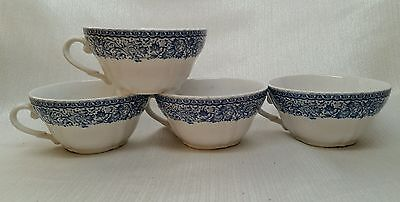 $ CDN11.89 • Buy (4) Diamondstone Laveno Blue Transferware Teacups
