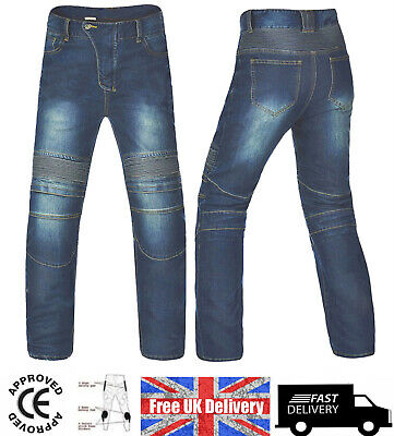 NEW Motorbike Motorcycle Jeans Cargo Style Riding  Trousers / Pants CE Armours • 39.99£