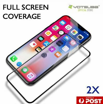 AU6.93 • Buy 2X Full Coverage 9H Tempered Glass Screen Protector Apple IPhone X XS Max XR