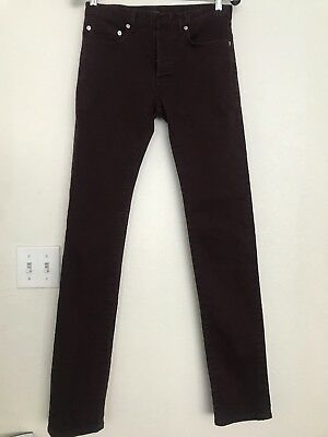 $168.99 • Buy DIOR Homme Japan Skinny CottonViolet Red Jeans Made In Japan Size 28