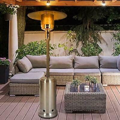 Stainless Steel Gas Patio Heater 13Kw Outdoor Garden BBQ Grill Fire Regulator • 99.99£