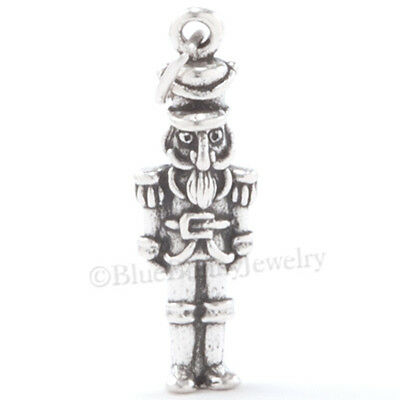 NUTCRACKER Charm Christmas Pendant Ballet Dance TOY SOLDIER STERLING SILVER 925 • 8.01£