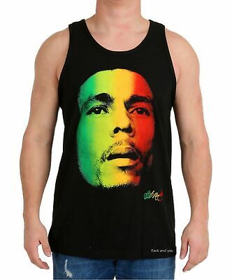 97234ccf961343 Bob Marley Tank Top T-Shirt Photo Reggae Rasta Ska Rock Official L XL NWT