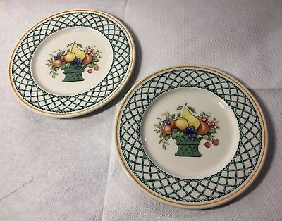 2 X Villeroy & And Boch Basket Pattern Small 16cm Side Plates  • 19.99£