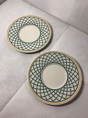 2 X Villeroy And Boch Basket Spare Saucers • 9.99£