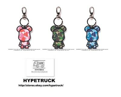 $36 • Buy A BATHING APE BAPE X ABC CAMO BE@R SILICON KEYCHAIN Bearbrick 3colors From JP