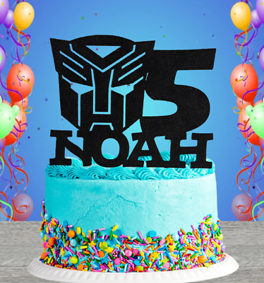 £6.50 • Buy Personalised Transformers Autobots  Any Name/age Birthday Cake Topper