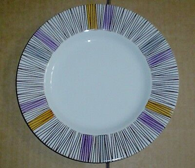 Barratts Delphatic White Tableware Stripes Side Plate Vintage 1950's • 8.99£
