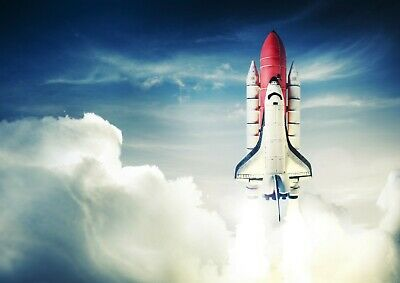 Cool Space Shuttle Poster Print Size A4 / A3 Galaxy Travel Poster Gift #8204 • 8.99£