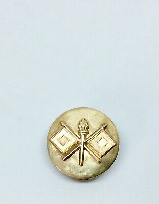 $29.99 • Buy Rooster Pin And Tie Tack- Gold Round Military Tie Tac Vintage