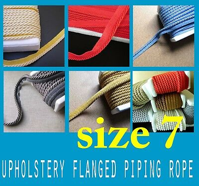 Upholstery Flanged Piping Cord Rope 7m Trimmings Trim Cushion Piping Cord Trims • 2.30£