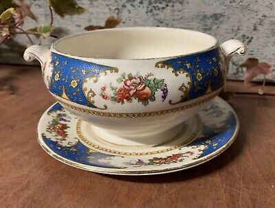 Antique Mini Tureen And Underplate / Saucer Sampson Bridgwood & Son  • 8.60£
