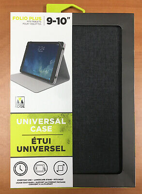 $14.95 • Buy Folio Universal Case For 9-10  Tablets Landscape Stand M-Edge Heather Grey