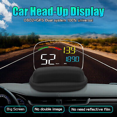 C800 Car HUD OBD2 GPS Head Up Display Speedometer Over Speed Warning Projector • 52.39£