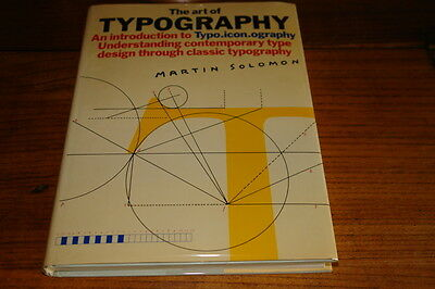 The Art Of Typography By Martin Solomon • 19.99£