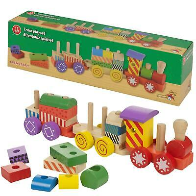 £7.95 • Buy Wooden Train Kids Toy Play Set Children Role Play Colourful Accessories New