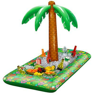 Inflatable Hawaiian Palm Tree Luau Food Drinks Cooler Beach BBQ Party Decoration • 13.93£