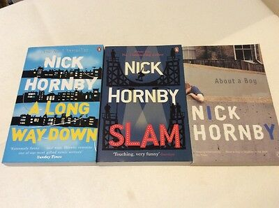 Nick Hornby Book Bundle Long Way Down Slam About A Boy • 4.99£