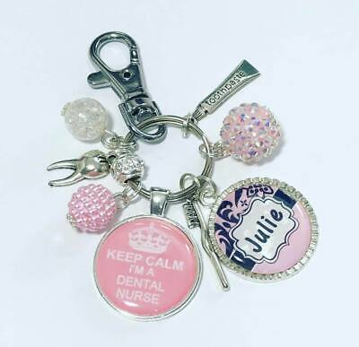 Dental Nurse Personalised Keyring  Dental Nurse Gift • 9.99£