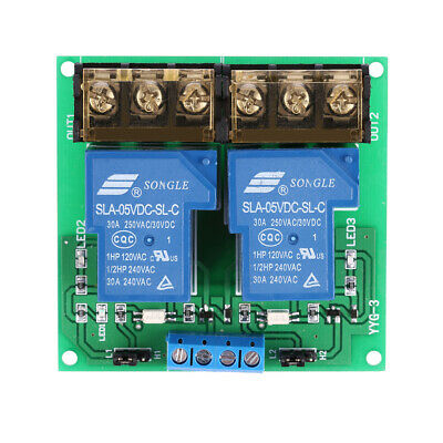 AU15.83 • Buy 5/12/24V 30A Relay Board Module Optocoupler Isolation High/Low Trigger 2 Channel