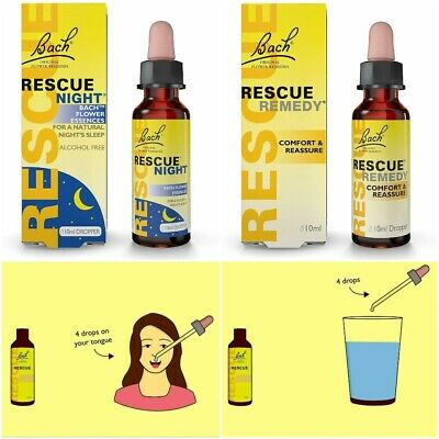 Rescue Remedy Night Homeopathic Remedy Anxiety Mental Health Deep Sleep Relax  • 6.39£