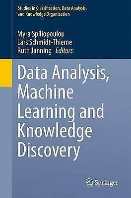 £97.79 • Buy Data Analysis, Machine Learning And Knowledge Discovery (Studies In Classificat