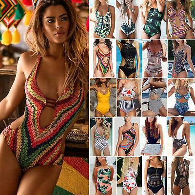 Women's Sexy One Piece Bikini Monokini Swimwear Swimsuit Beach Swimming Costume • 8.26£