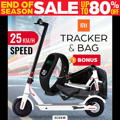 AU489 • Buy Electric Scooter 300W Foldable Portable Adult Kids Xiaomi Band Commuter Bike WHI