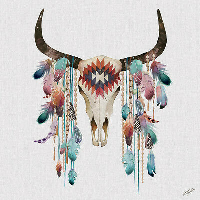 Summer Thornton - Tribal Skull - Canvas Print Wall Art 2 Sizes Available  • 39.99£