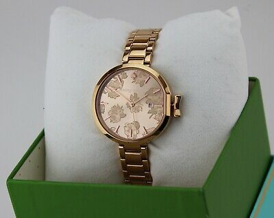 $ CDN134.06 • Buy New Authentic Kate Spade Park Row Rose Gold Roses Floral Women's Ksw1397 Watch