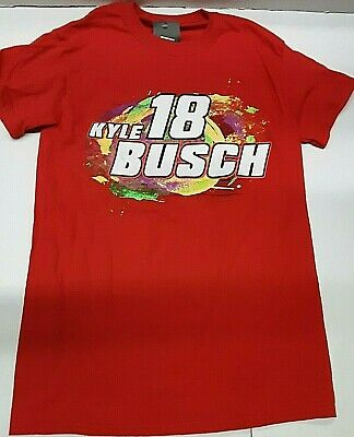 $22.99 • Buy Kyle Busch #18 MM's Red Two Sided Nascar T-shirt, Medium